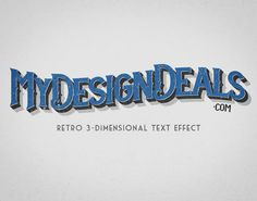 How to Create a Retro, 3-Dimensional Text Effect in Photoshop #texteffect #photoshoptutorials #photoeffect