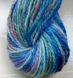 Items similar to Hand painted yarn blue turquoise green by SpinningStreak on Etsy Textured Yarn, Hand Dyed Yarn, Hand Spinning, Fiber Art, Hand Painted, Turquoise, Knitting, Trending Outfits, Unique Jewelry