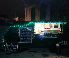 Fairy lights and food vans. Perfect for being under viaducts. The Jabberwocky at the Custard Factory, Birmingham, UK.
