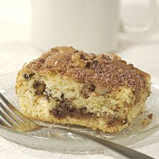 King Arthur Sour Cream Coffee Cake. This tender cake is both filled and topped with a delicious cinnamon-y streusel.