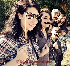 fall family portrait session #photography #mustache #props