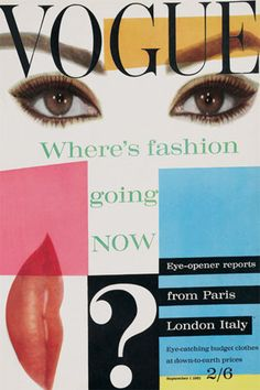 Sophia Loren's eyes and lips grace the cover Vogue UK, early 1960's.