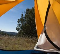 Photo about View looking out of doof of sun-filled tent upon great outdoors. Image of campsite, open, roughing - 3936497 Camping Spots, Camping Life, Tent Camping, Campsite, Camping Hacks, Glamping, Truck Camping, Camping Meals, Camping With Kids