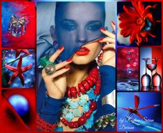 '' Red & Blue/ Perfect Duo '' by Reyhan Seran Dursun