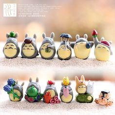 Aliexpress.com : Buy Moss micro landscape crafts anime My Neighbor Totoro, 12pieces/set DIY toys garden decoration increase the room beautiful from Reliable Action & Toy Figures suppliers on Jack's Store-Tianjin Industrial Belt | Alibaba Group