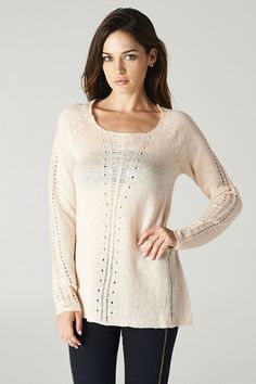 Cadence Sweater in Soft Ivory