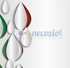 Sfondo bandiera dell'Italia a gocce