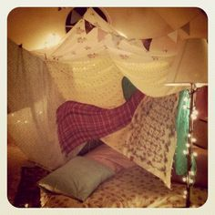 I would love to make a blanket fort!