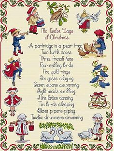 Twelve Days of Christmas - All Our Yesterdays Cross Stitch Kit By Faye Whittaker