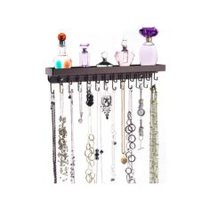 Wall Mount Long Necklace Rack Holder Hanging Jewelry Organizer