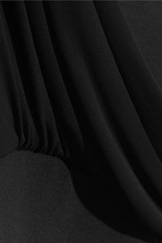 Versus Versace - Asymmetric Jersey-trimmed Stretch-crepe Gown - Black - IT44