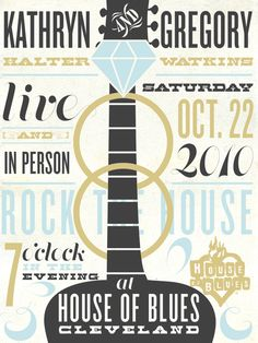 Rock & Roll Wedding poster / favor Cleveland House of Blues