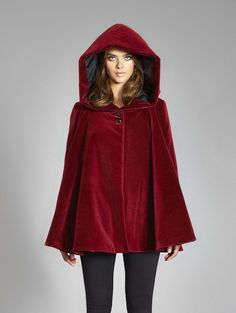 Vegan & Ethical by Vaute Couture - Angela Red Cape - High tech warmth (Rain & snow repellant Organic Moleskin insulated with Primaloft ECO + lined in Windproof ripstop) High ethics materials (100% vegan + made of organic & recycled fibers) Crafted in the USA (in my hometown Chicago), designed in Brooklyn with love.