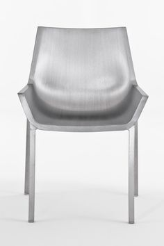 Sezz Chair by Christophe Pillet via mocoloco: Handmade of recycled aluminum. #Chair #Aluminum_Chair #Christophe_Pillet #mocoloco