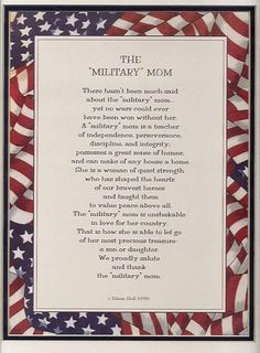 "There hasn't been much said about the ""military"" mom. A ""military' mom i. Navy Life, Navy Mom, Mom Poems, Mom Quotes, Navy Military, Military Life, Military Families, Military Quotes, Military Veterans"