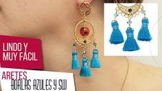 ¡NUEVO VIDEO!  Aretes con borlas azules y cristales swarovski. Empezamos el 2016 recargados de creatividad e ideas. Adri Muñoz nos enseña a elaborar dos hermosos aretes con borlas azules y cristales swarovski. Haz clic en el pin para mirar el Vídeo. ¡Manos a la obra! #Moda #Accesorios #Joyas #Magia #Violeta #bisutería #Color #Tendencias #Diseños #Insumos #DIY