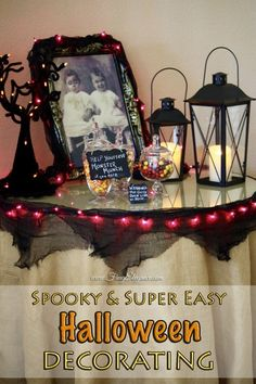 Easy Halloween Decorating by FrugElegance.com