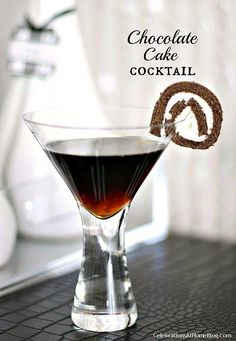 This chocolate cake cocktail is like dessert in a glass