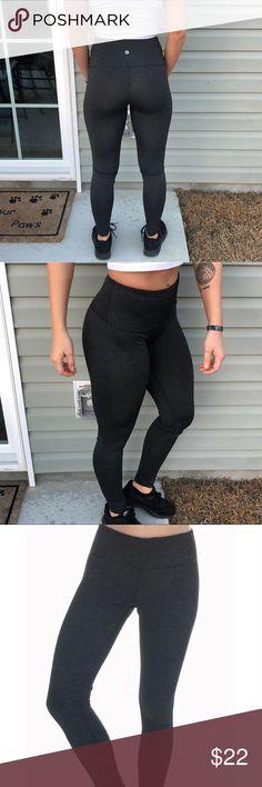 "🔝 90 degree dark grey leggings Amazing leggings!! Perfect condition. Dark specked ""look"" grey leggings. Fit is very similar to lulu high times!! 90 Degree By Reflex Pants Leggings"