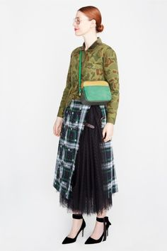 #JCREWNYFW: Tartan, Tulle, Stripes, Camo… - Read more at our blog.