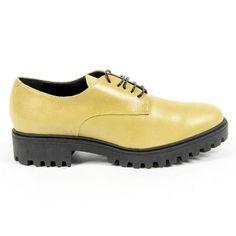 V 1969 Italia Womens Lace Up Shoe C01 VITELLO GIALLO