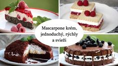 Mascarpone krém v tortách a zákuskoch, Slovník Cheesecake, Food And Drink, Sweet, Recipes, Gardening, Mascarpone, Candy, Cheesecakes, Recipies