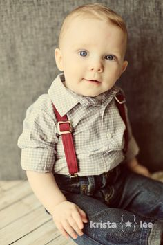 Because every little boy needs a pair of suspenders ;)