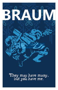 Braum: League of Legends Print 11 x 17 or 13 x 19 por pharafax