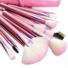 Original 22 PCS COMPLETE SET  PINK MAKEUP BRUSH 22 PCS professional makeup brush set of tools manufacturers spot