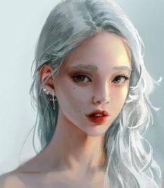New digital art girl anime drawings ideas Digital Art Girl, Digital Portrait, Portrait Art, Character Portraits, Character Art, Girl Sketch, Girls Characters, Art Graphique, Deviant Art