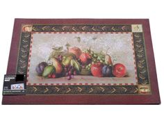 Fruit+Themed+Apples+Grapes+Mat $24.95.