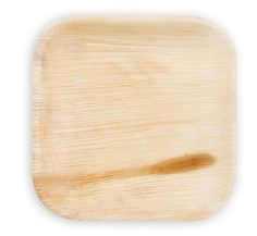 Ten 10 Wooden Square Disposable Plates by VisualCre8tions on Etsy