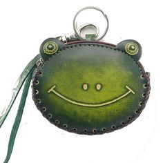 Leather Frog Coin Purse Wallet Wristlet Purse for by matryona, $21.99