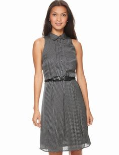 The Limited - Polka-Dot Shirt Dress