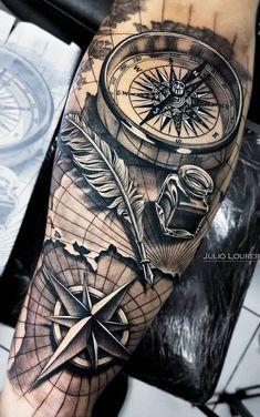 - tattoos sleeve - Einfach nur geil - tattoo old school tattoo arm tattoo tattoo tattoos tattoo antebrazo arm sleeve tattoo Nautical Tattoo Sleeve, Nature Tattoo Sleeve, Best Sleeve Tattoos, Sleeve Tattoos For Women, Tattoo Sleeve Designs, Tattoo Designs Men, Tattoos For Guys, Nautical Tattoos, Angel Tattoo Designs