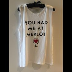 Graphic tee The perfect tee for wine lovers! Simple muscle tee 50% cotton, 50% modal Tops Muscle Tees