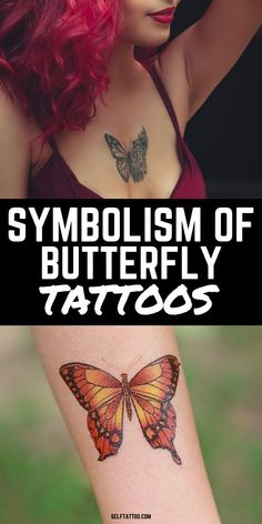 Symbolism Of Butterfly Tattoos | Tattoo Ideas Female - Butterfly tattoos are one of the most popular designs for women, but what does it really mean and what does it symbolize? Click here to read more about the meaning of butterfly tattoos, the different types of butterfly tattoos, and be inspired by different tattoo designs. Self Tattoo | Tattoo Designs | Color Tattoos | Tattoos With Meaning | Tattoos For Women | Mini Tattoos | Minimalist Tattoos | Butterfly Tattoo | Tattoo Ideas Simple Tattoo Fonts, Cute Simple Tattoos, Simple Tattoo Designs, Tattoo Designs Men, Animal Tattoos For Women, Small Animal Tattoos, Tattoos For Women Small, Small Tattoos, Unique Small Tattoo