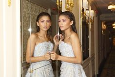 The stylist Law Roach compares and contrasts his two superstar clients: Zendaya and Celine Dion, who took Paris Couture Week by storm. Mode Zendaya, Zendaya Outfits, Zendaya Style, Zendaya Photoshoot, Photoshoot Ideas, Zendaya Maree Stoermer Coleman, Strapless Dress Formal, Prom Dresses, Couture Week