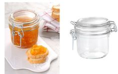 12 Pack of 200g (7 Oz) Fido Hermetic Terrine Canning Storage Jars . $48.00. hermetic jar in clear glass x 12 pieces - contents NOT included. heat and food safe - keeps out air, water and insects. replaceable seals for use in hot bath canning (70mm leparfait gaskets fit this jar). Canning quality latch lid jar made in Italy - Approx 7 ounce capacity. A beautiful food and heat safe canning quality latch lid heremetic jar from Italy. Full case of 12 pieces - brand new sto...
