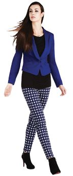 This jacket comes from the evolution of the blazer. Wear this shaped short jacket to work for a feminine take on the office blazer.