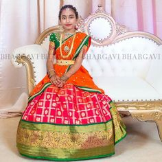 Indian Attire, Indian Wear, Indian Outfits, Indian Clothes, Baby Girl Dresses, Baby Dress, Cute Dresses, Baby Girls, Half Saree Designs