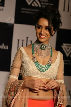 Shraddha Kapoor walks the ramp of Indian International Jewellery Week