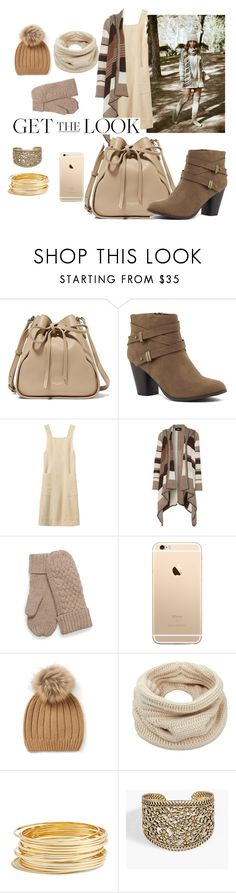 """""""Winter nude"""" by chelseaoliveira ❤ liked on Polyvore featuring Nina Ricci, Line, Helmut Lang, Argento Vivo and Lucky Brand"""
