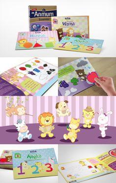 Cartoon Illustrations, Brand Campaign, Children Books, 3 Kids, Print Ads, Logo Branding, Animals Beautiful, Bright Colors, Numbers