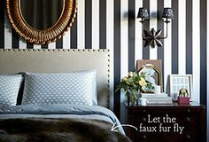 A Room for Two: Furniture & Decor for Him & Her Transform your master suite into a relaxing respite for both you and your partner with this selection of neutral furnishings, art, and more. And scroll down for some tips from us as well.