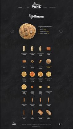 Pane. Italian for the word 'Bread'. #bakery #webdesign #design
