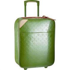 a0ad1d85fc8bf Women Louis Vuitton Monogram Vernis Pegase 50 Green M93715 Louis Vuitton  Luggage