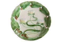Majolica Lily Wall Plate on OneKingsLane.com
