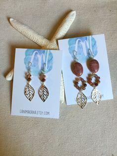 Long Gemstone Earrings Fall Earrings Boho Earrings by LaniMakana