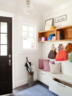 Get inspired by Traditional Foyer Design photo by TERRACOTTA DESIGN BUILD. Wayfair lets you find the designer products in the photo and get ideas from thousands of other Traditional Foyer Design photos. Entryway Storage, Storage Spaces, Entryway Ideas, Bench Storage, Shoe Storage, Entryway Furniture, Furniture Ideas, Drawer Storage, Mudroom Benches